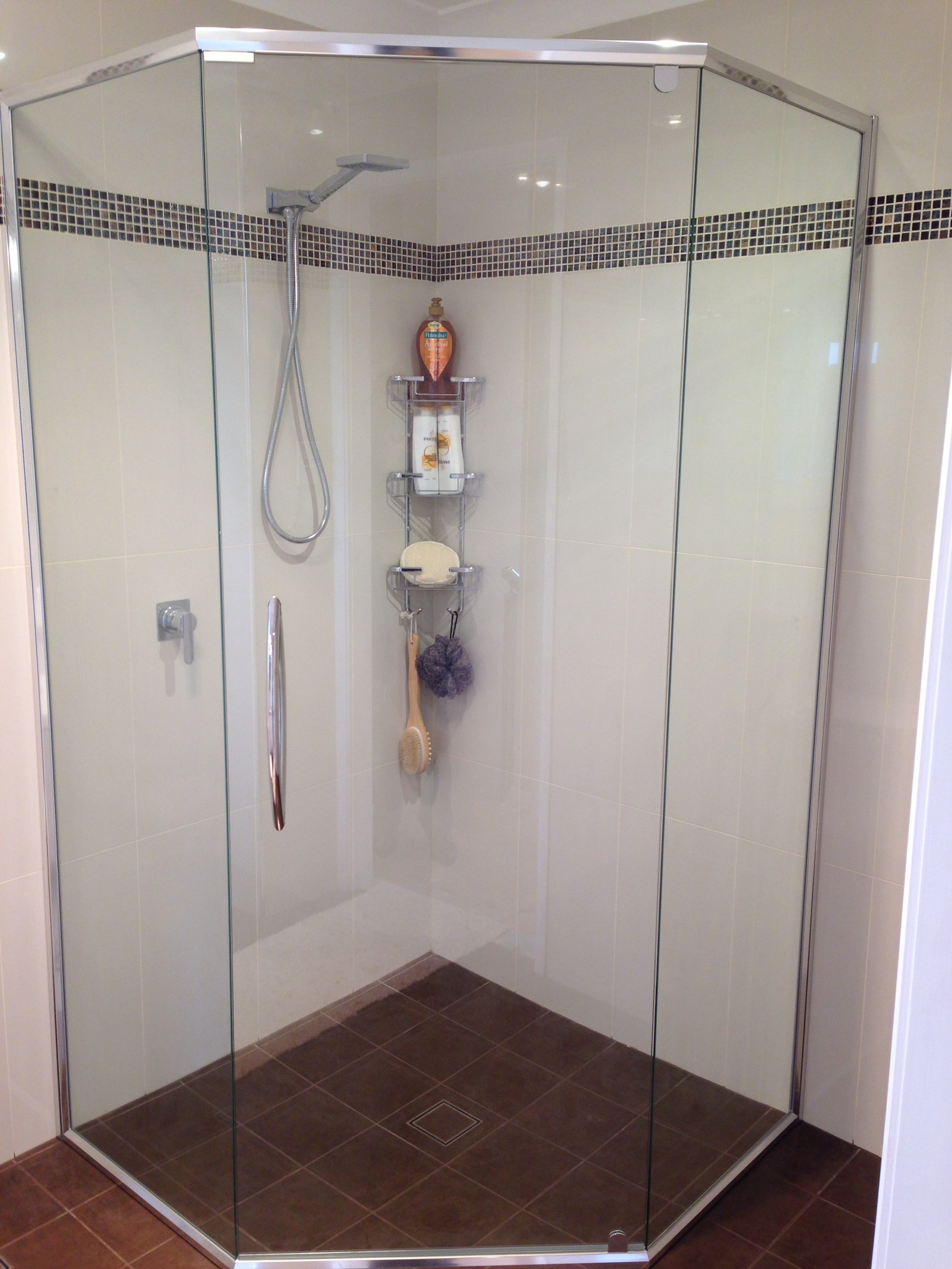 Semi Frameless Shower Screen with Handle