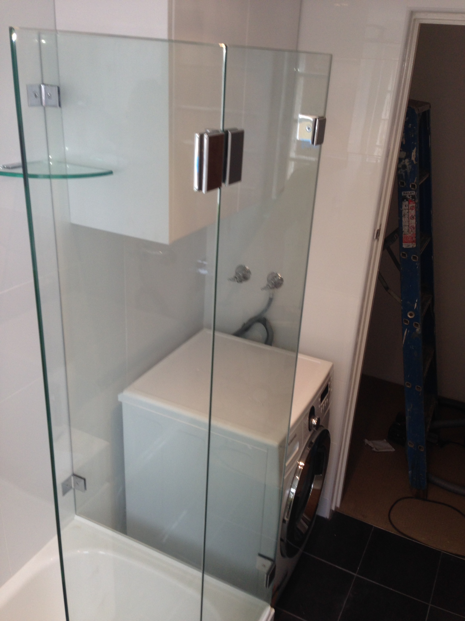 Frameless Shower Screen on Bath